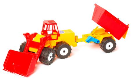 Трактор Шустрик скрапер прицеп №2;арт106-2;4820123761451630гр;5шт;66-18-18